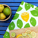 Lemon And Limes Tea Towel
