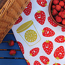 Strawberries And Cream Tea Towel