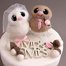 Bride And Groom Bird Wedding Cake Topper