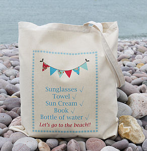 'Beach' Tote Bag