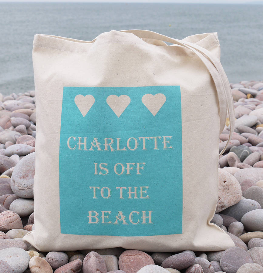 personalised 'beach' bag by andrea fays | notonthehighstreet.com