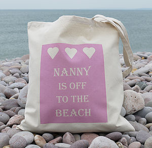 Personalised 'Beach' Bag - women's