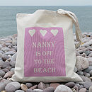 Thumb personalised beach bag