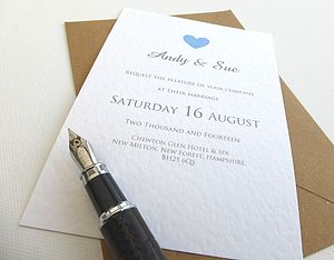 Heart Wedding Invitations - save the date cards