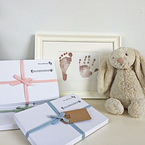 Inkless Handprint And Footprint Kit - new baby gifts