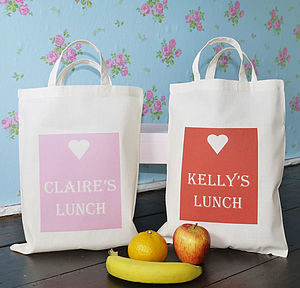 Personalised 'Lunch' Bag - bags, purses & wallets