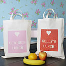 Thumb personalised lunch bag