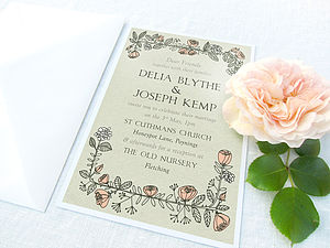Rose Wreath Invitations And RSVPs