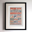 Morrissey 'Kill Uncle' Playbill Print