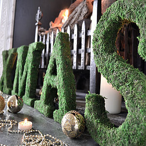 Real Moss Covered Decorative 'Xmas' Sign - children's decorative accessories