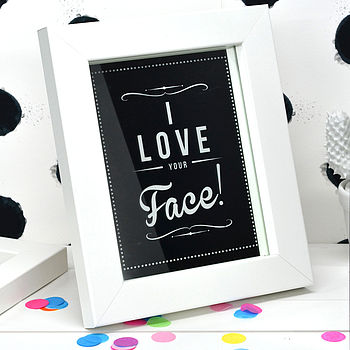 'I Love Your Face' Retro Mirror