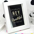 'Hey There Beautiful' Retro Mirror