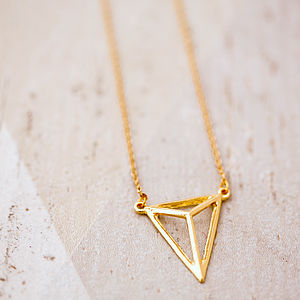 Geometric Triangle Necklace - jewellery