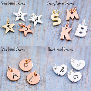 Add On J And S Jewellery Initial Charm - personalised