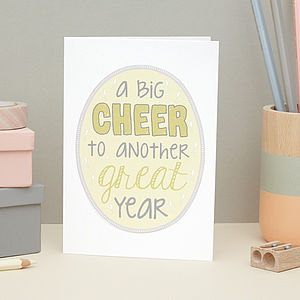 'A Big Cheer To Another Great Year' Card