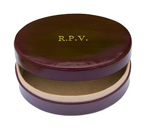 Oval Leather Jewellery/Cuff Link Box - jewellery storage & trinket boxes