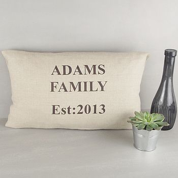 ' Personalised Family ' Linen Cushion