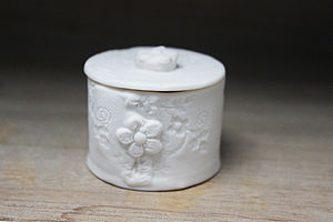 Porcelain Lace Trinket Box - jewellery storage & trinket boxes