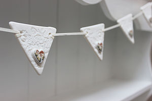 Porcelain Lace And Rose Bunting