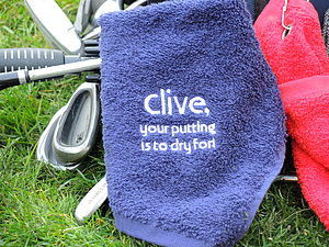To Dry For… Personalised Golf Towel - gifts for golfers