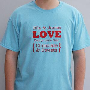 Personalised 'Love You More' Men's T Shirt