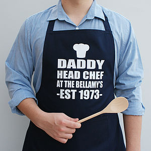 Personalised Personal Chef Apron - summer sale