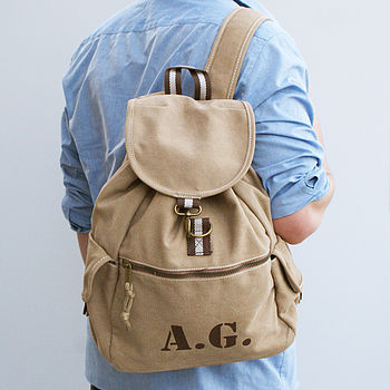 Personalised Canvas Rucksack