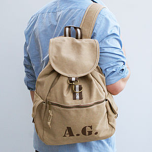 Personalised Canvas Rucksack - autumn bag edit