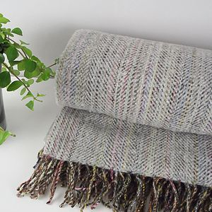 'Silver White' Irish Tweed Throw