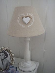 Love Heart Cream Lamp - table lamps