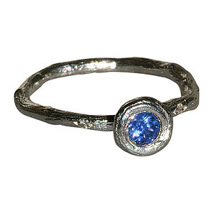 Sapphire Sterling Silver Ring - women's jewellery