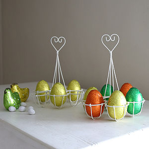 Cream Wire Egg Holder - egg cups & cosies