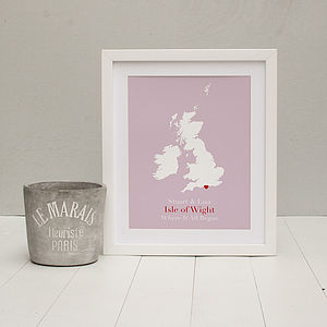 'Where It All Began' Personalised Print - our memories