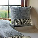 Grey Woven Wool Cushion