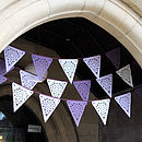 Purple, Lilac And Ivory Lace Wedding Bunting