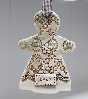 Personalised Gingerbread Lady Decoration