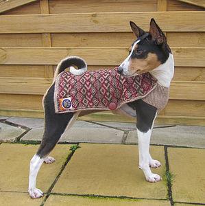 Fairisle Dog Sweater - dogs