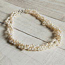 Twisted Triple Strand Pearl Necklace