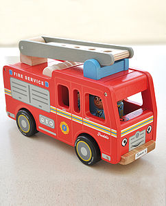 Quality Red Fire Engine With Firemen - cars & trains
