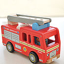 Quality Red Fire Engine With Firemen