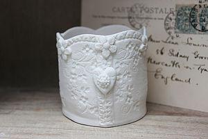 Lace Daisy Porcelain Tea Light - ceramics
