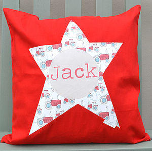 Boy's Personalised Cushion