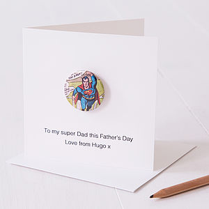 Personalised Super Hero Father's Day Card