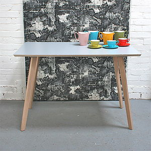 Perky Formica Table, Grey