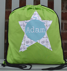 Boy's Personalised Pe Or Kit Bag