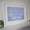 Personalised Christening And New Baby Print
