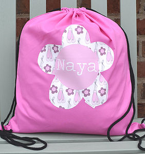 Girl's Personalised Kit Bag Various Designs - shop by colour: lilac