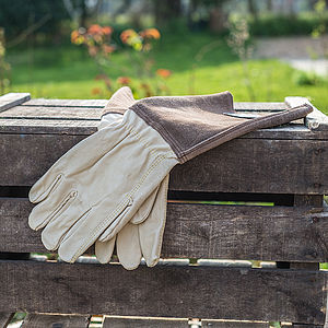 Gents Gardening Gauntlet Gloves - gardenwear