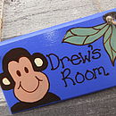 Personalised Monkey Door Plaque