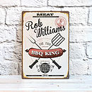 Personalised Retro Bbq King Sign